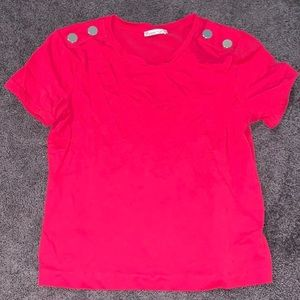 NWOT Zara Tee With Buttons